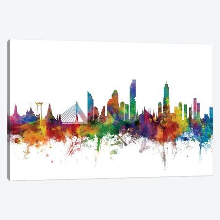 Bangkok, Thailand Skyline Canvas Print #MTO978} by Michael Tompsett Canvas Art Print