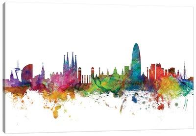 Barcelona, Spain Skyline Canvas Art Print