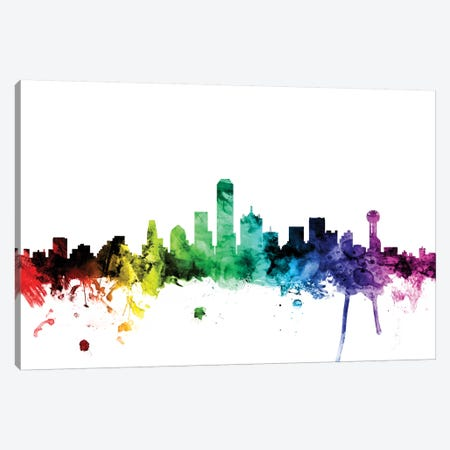 Dallas, Texas, USA Canvas Print #MTO97} by Michael Tompsett Art Print