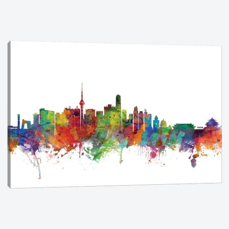 Beijing, China Skyline Canvas Print #MTO982} by Michael Tompsett Canvas Artwork