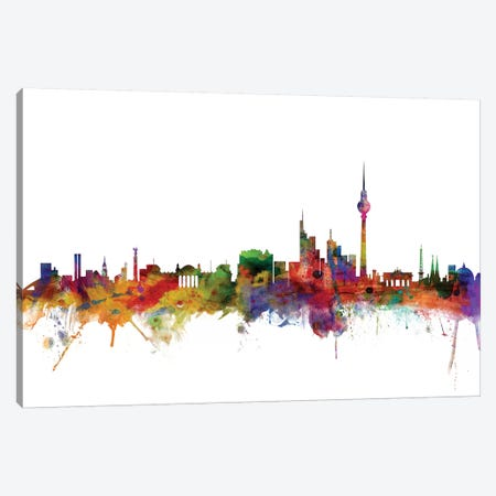 Berlin, Germany Skyline Canvas Print #MTO984} by Michael Tompsett Canvas Print