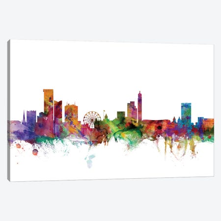 Birmingham, England Skyline Canvas Print #MTO986} by Michael Tompsett Canvas Print