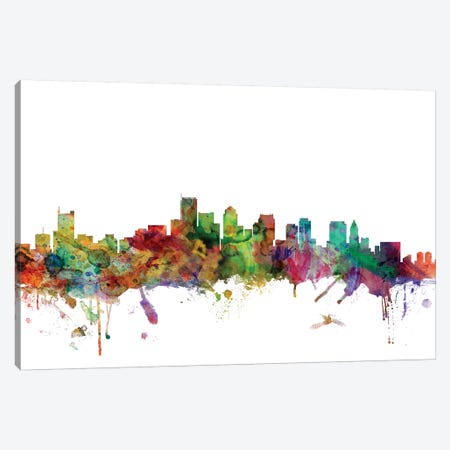 Boston, Massachusetts Skyline Canvas Print #MTO988} by Michael Tompsett Canvas Artwork