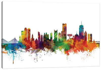 Boston, Massachusetts Skyline Canvas Art Print