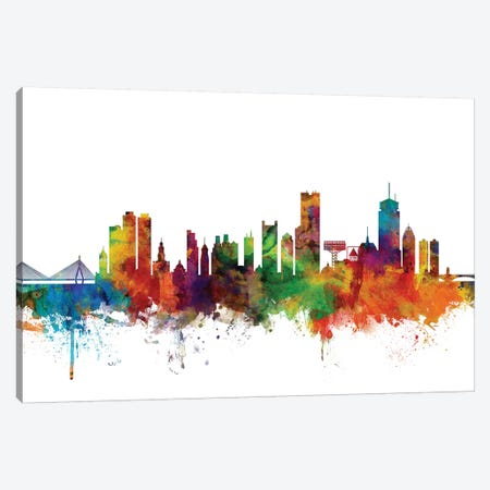 Boston, Massachusetts Skyline Canvas Print #MTO989} by Michael Tompsett Canvas Art
