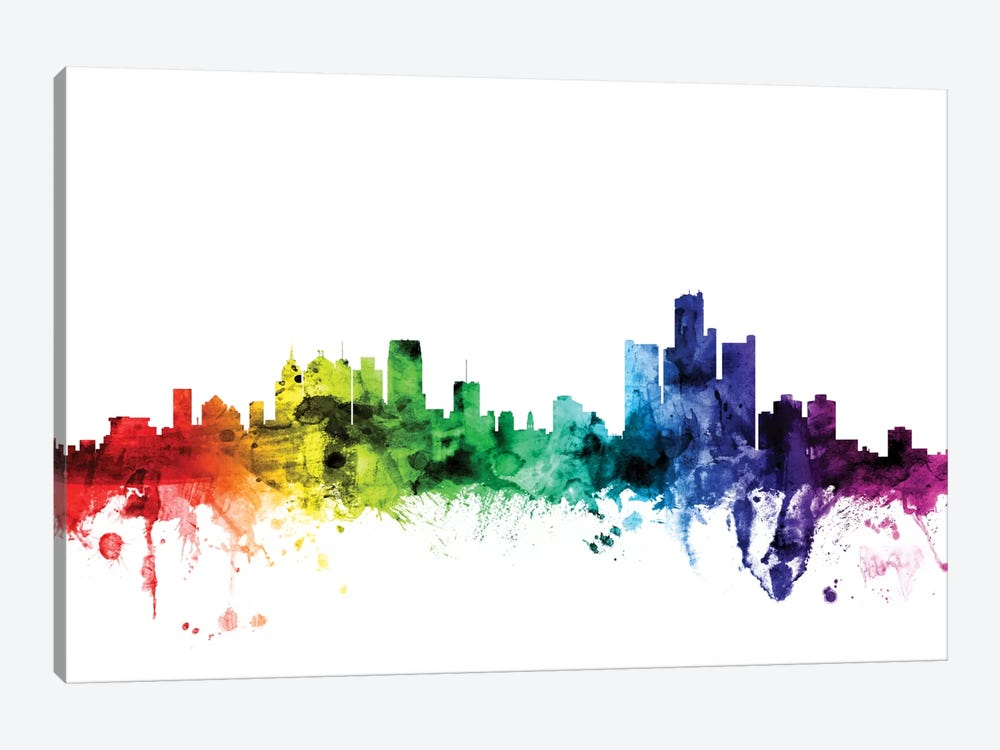 Detroit, Michigan, USA by Michael Tompsett 1-piece Canvas Artwork