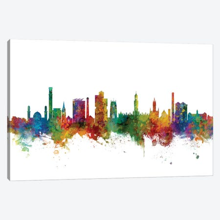 Bradford, England Skyline Canvas Print #MTO991} by Michael Tompsett Canvas Art Print