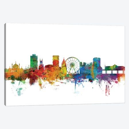 Brighton, England Skyline Canvas Print #MTO993} by Michael Tompsett Art Print