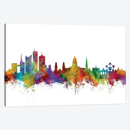 Brussels, Belgium Skyline Canvas Print #MTO996} by Michael Tompsett Canvas Artwork