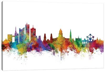 Brussels, Belgium Skyline Canvas Art Print
