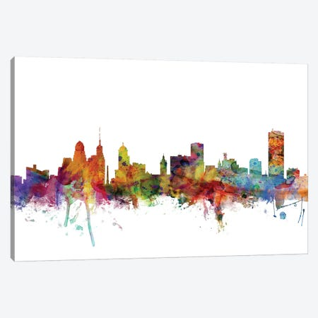 Buffalo, New York Skyline Canvas Print #MTO997} by Michael Tompsett Canvas Artwork