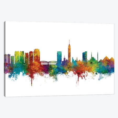 Cairo, Egypt Skyline 3-Piece Canvas #MTO998} by Michael Tompsett Art Print