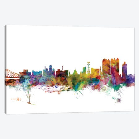 Calcutta  (Kolkata), India Skyline Canvas Print #MTO999} by Michael Tompsett Canvas Art Print