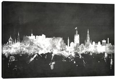 Blackboard Skyline Series: Edinburgh, Scotland, United Kingdom Canvas Art Print