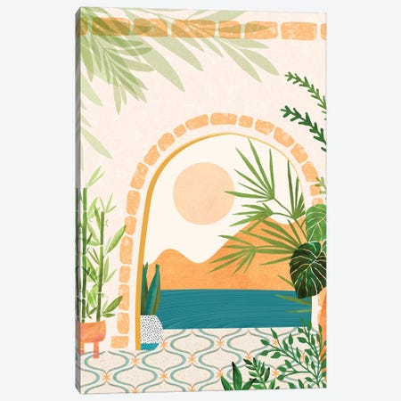 Scenes From Morocco II 3-Piece Canvas #MTP100} by Modern Tropical Canvas Art Print