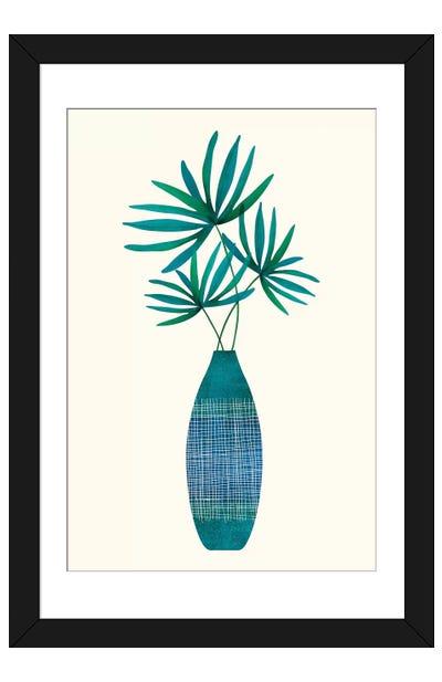 Emerald Flora Framed Art Print