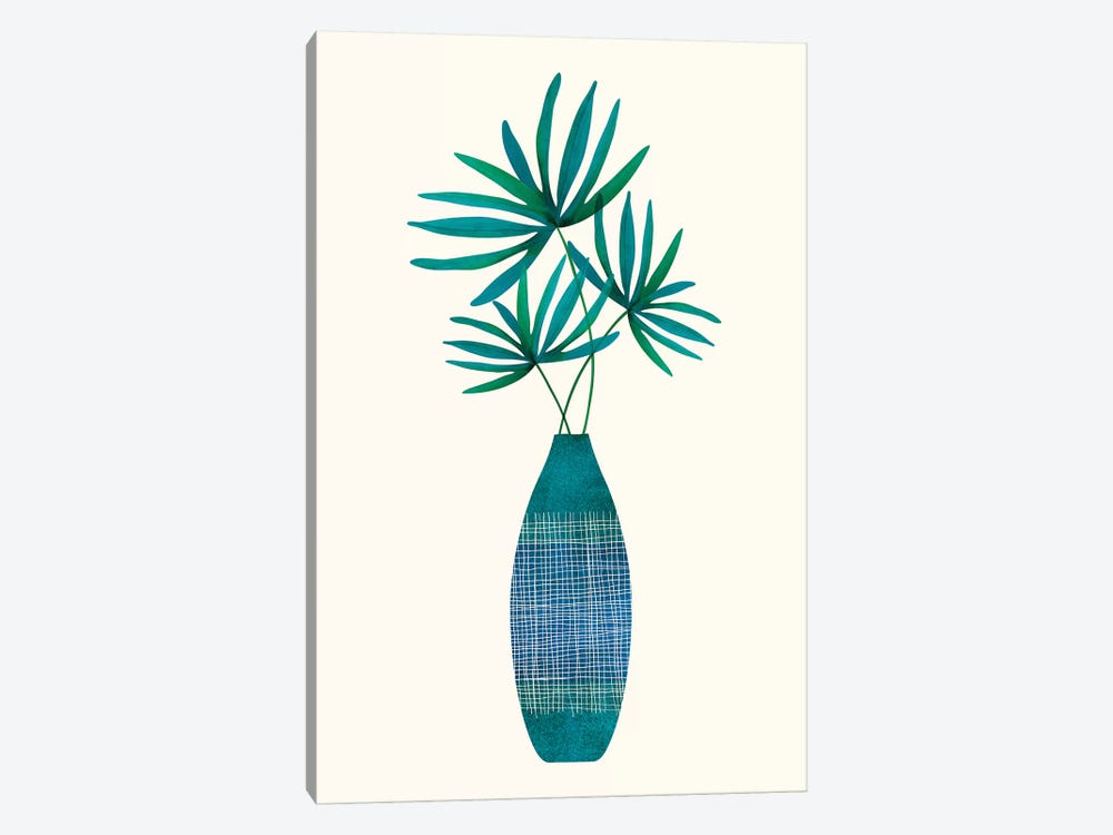 Emerald Flora by Modern Tropical 1-piece Canvas Wall Art