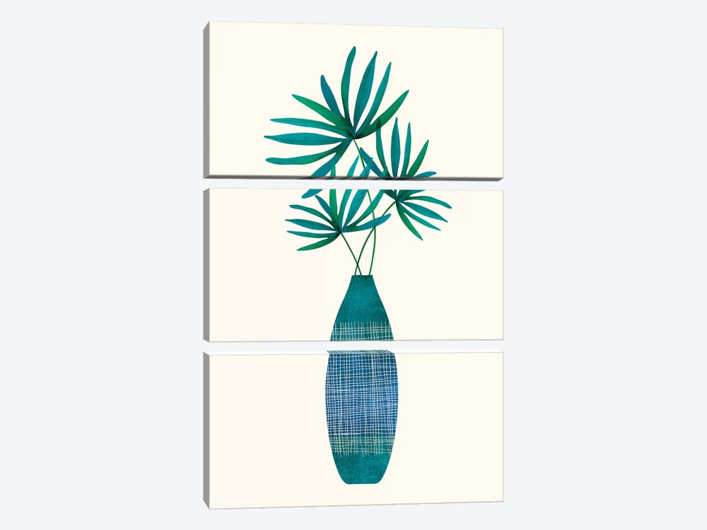 Emerald Flora by Modern Tropical 3-piece Canvas Wall Art
