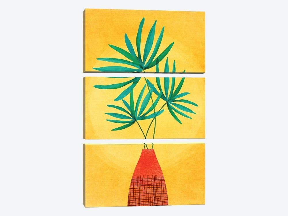 Radiant Flora by Modern Tropical 3-piece Canvas Art Print