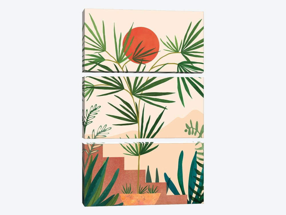 Weekend In Mojave by Modern Tropical 3-piece Canvas Art