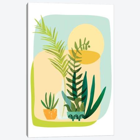 Whimsical Garden 3-Piece Canvas #MTP104} by Modern Tropical Canvas Artwork