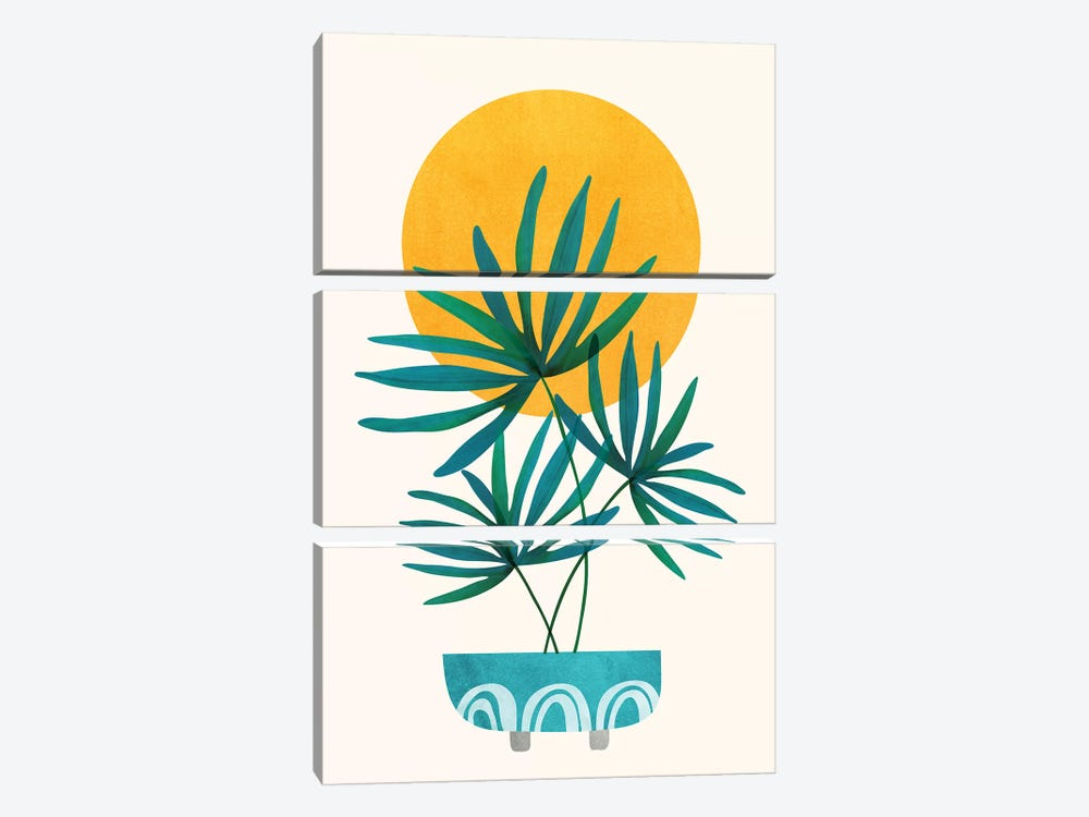 Little Palm by Modern Tropical 3-piece Canvas Art