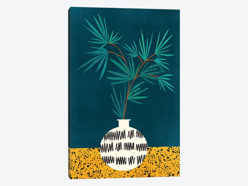 Night Palm by Modern Tropical 1-piece Canvas Print