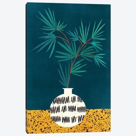 Night Palm Canvas Print #MTP108} by Modern Tropical Art Print