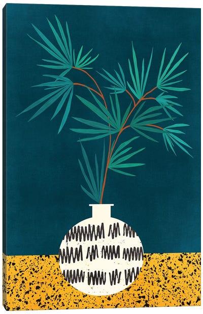 Night Palm Canvas Art Print