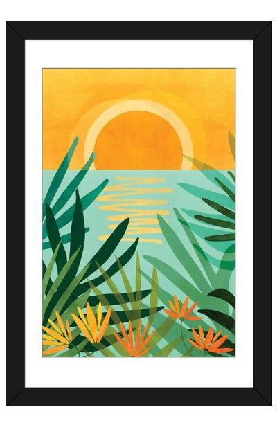 Peaceful Tropics Framed Art Print