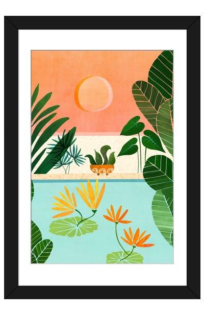 Shangri La Sunset Framed Art Print