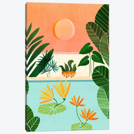 Shangri La Sunset Canvas Print #MTP110} by Modern Tropical Canvas Art