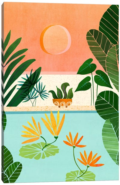 Shangri La Sunset Canvas Art Print