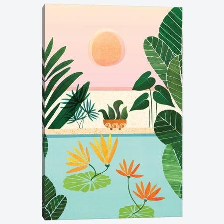 Shangri La Sunrise Canvas Print #MTP111} by Modern Tropical Canvas Artwork