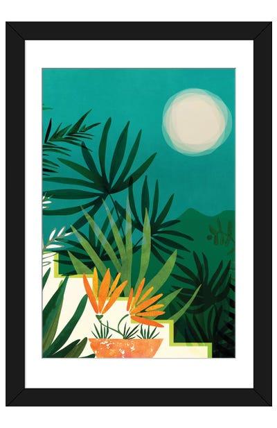 Tropical Moonlight Framed Art Print