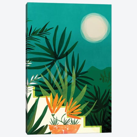 Tropical Moonlight Canvas Print #MTP112} by Modern Tropical Canvas Art