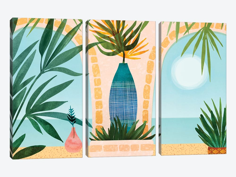 Welcome To The Hotel California by Modern Tropical 3-piece Art Print