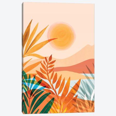 Golden Greek Garden Canvas Print #MTP114} by Modern Tropical Canvas Art Print