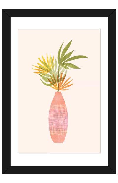 Modern Tropical Summer Bouquet Framed Art Print