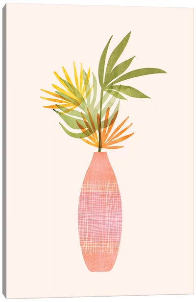 Modern Tropical Summer Bouquet Canvas Art Print