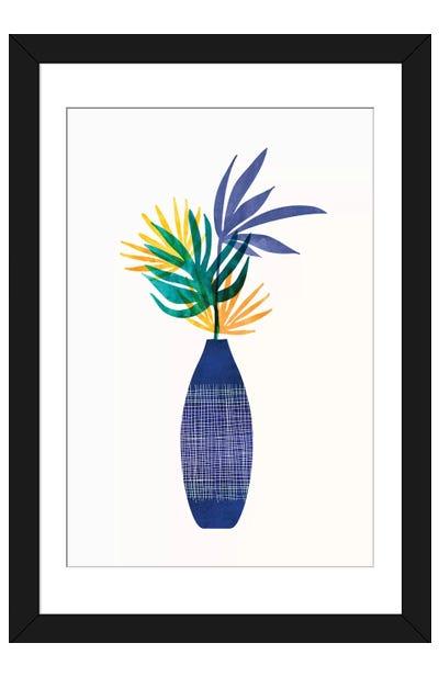 Bright Modern Tropical Greenery Framed Art Print
