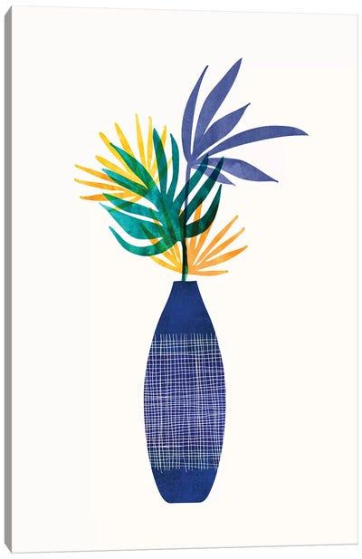 Bright Modern Tropical Greenery Canvas Art Print