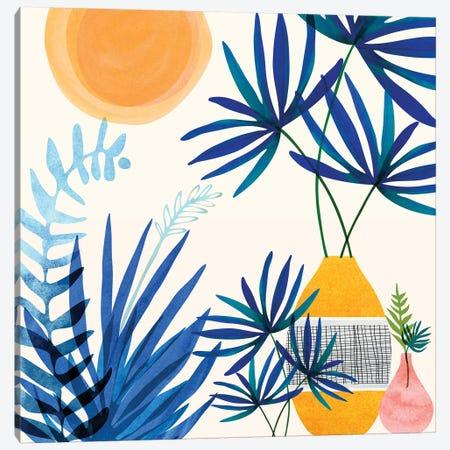 Moroccan Blues Canvas Print #MTP120} by Modern Tropical Canvas Art Print
