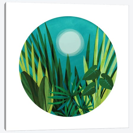 Tropical Night Garden 3-Piece Canvas #MTP124} by Modern Tropical Canvas Art