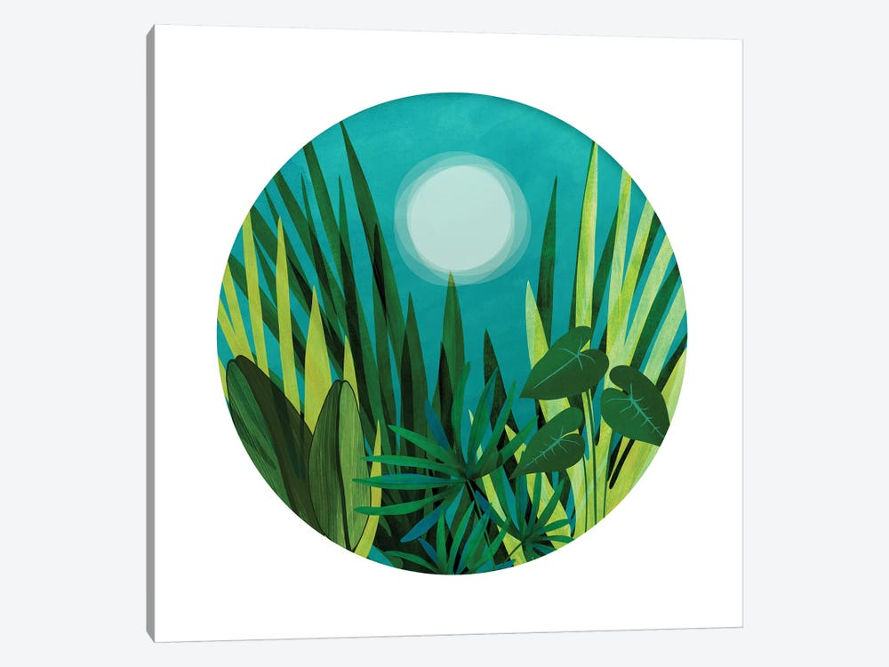 Tropical Night Garden by Modern Tropical 1-piece Canvas Art Print