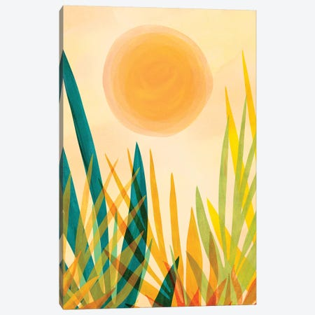 Golden Garden Canvas Print #MTP125} by Modern Tropical Canvas Artwork