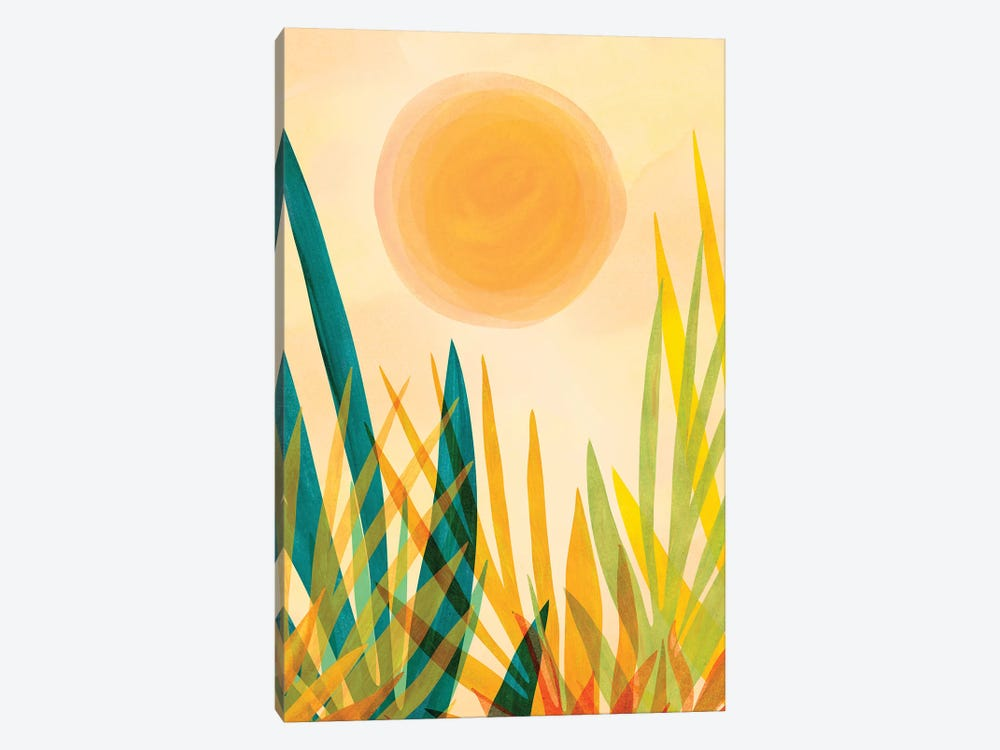 Golden Garden 1-piece Canvas Artwork