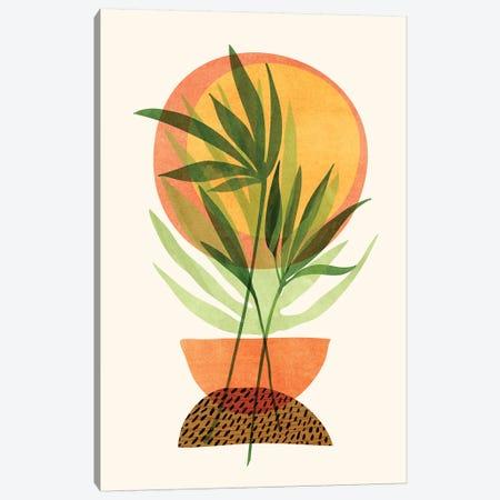 Retro Sunset Garden Canvas Print #MTP126} by Modern Tropical Canvas Artwork