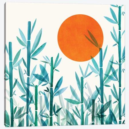 Zen Garden Sunset Canvas Print #MTP129} by Modern Tropical Art Print