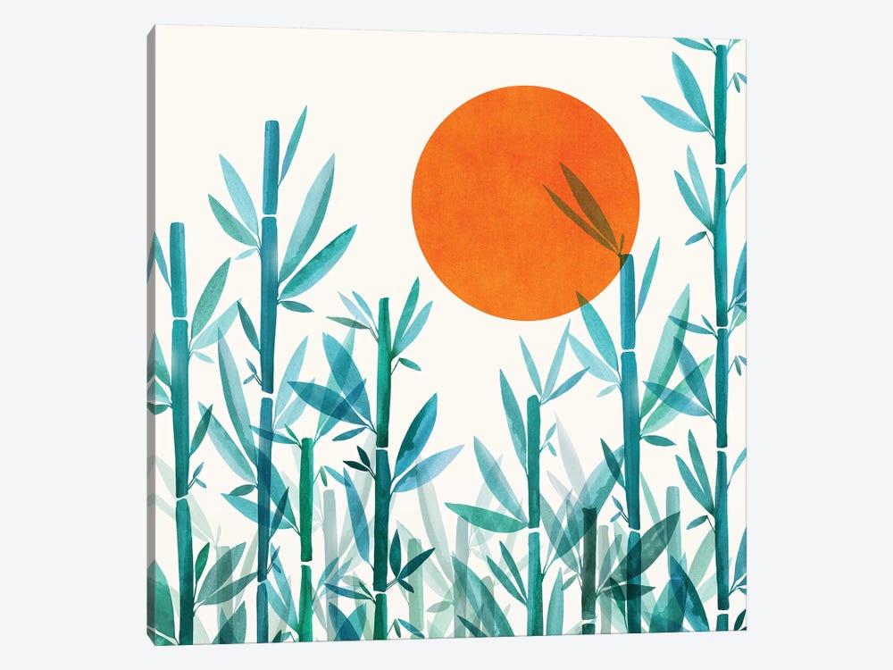 Zen Garden Sunset by Modern Tropical 1-piece Canvas Wall Art